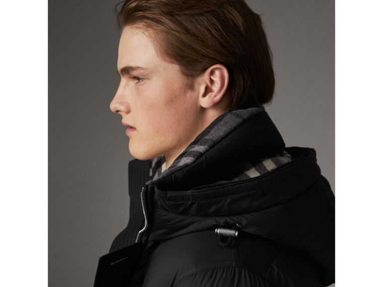 Detachable Raccoon Fur Trim Hood Down-filled Parka in Black - Men | Burberry - cell image 4