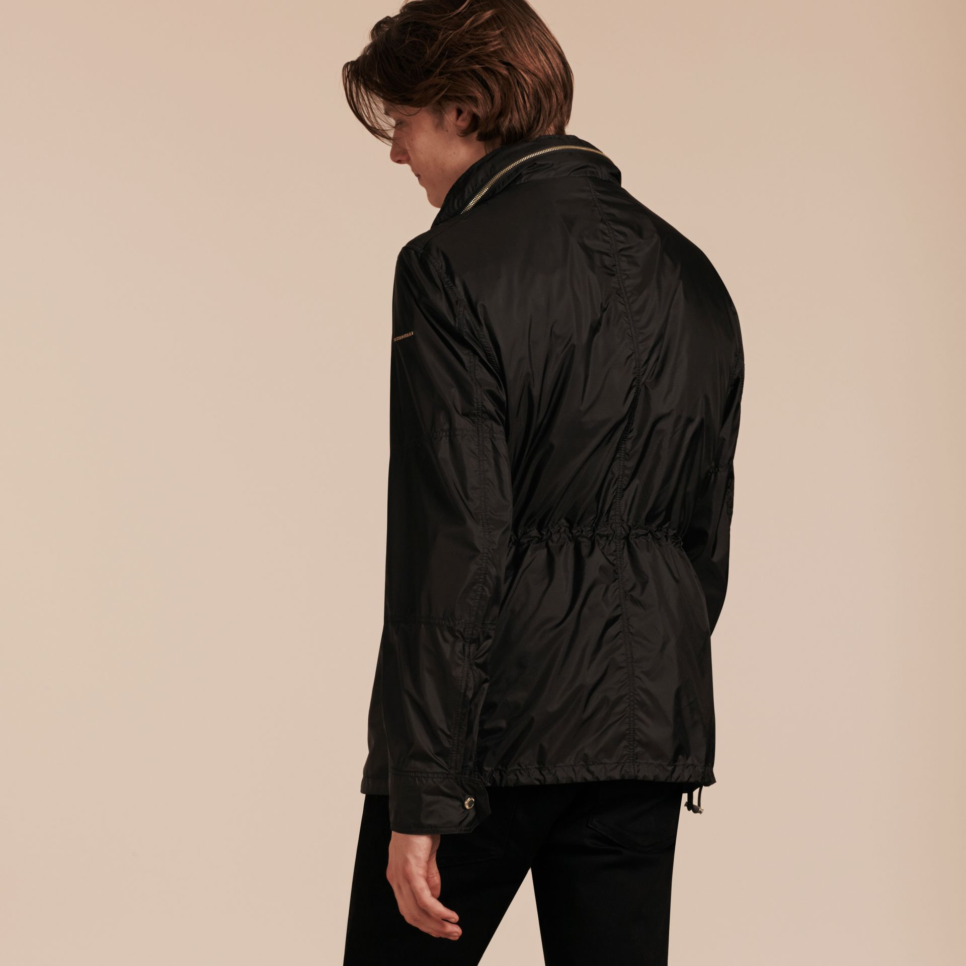 Black Ultra-lightweight Field Jacket with Removable Warmer - gallery image 3