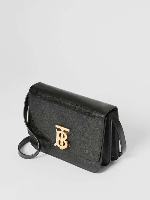 Small Grainy Leather TB Bag in Black - Women | Burberry - cell image 3
