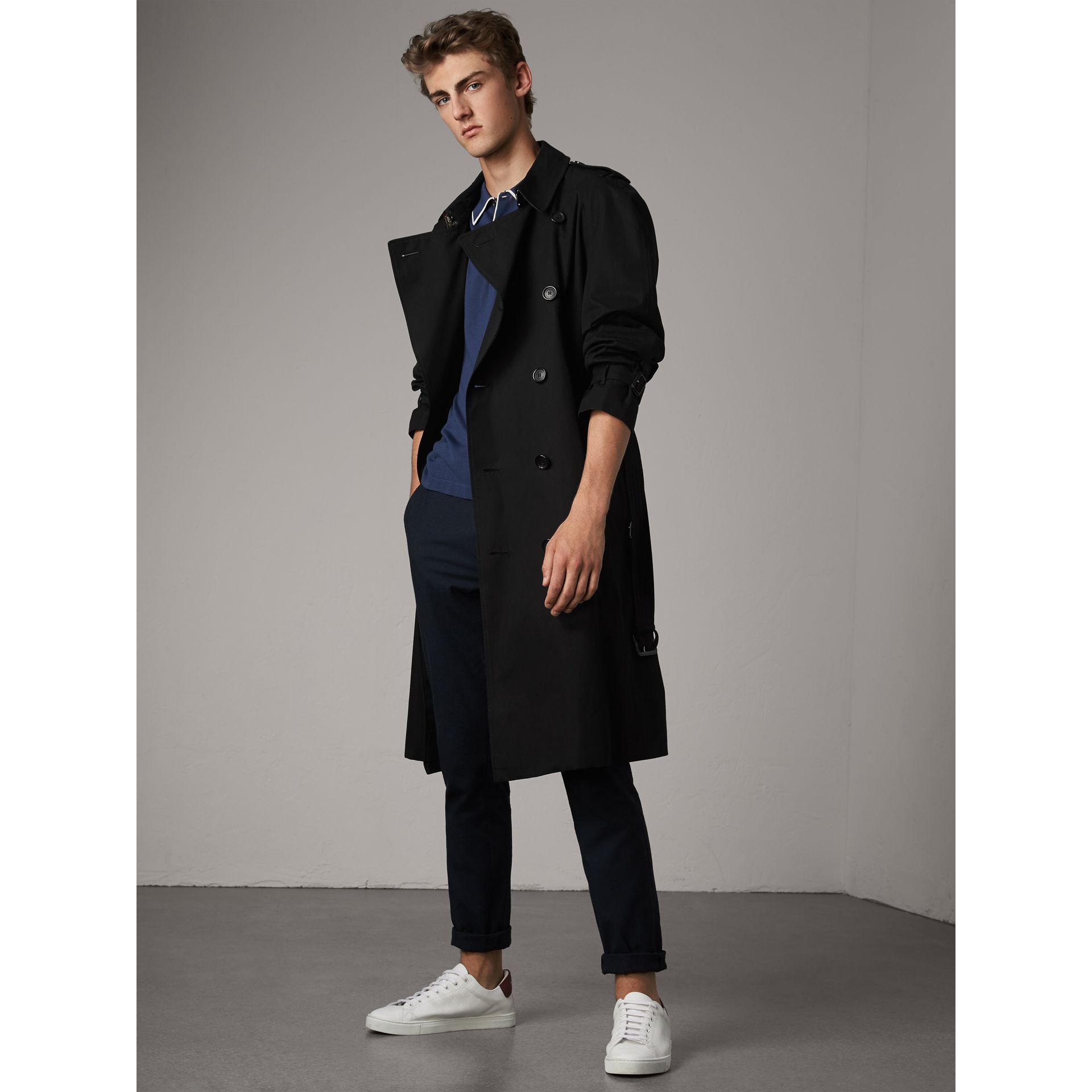 The Westminster – Extra-long Trench Coat in Black - Men | Burberry United Kingdom - gallery image 0