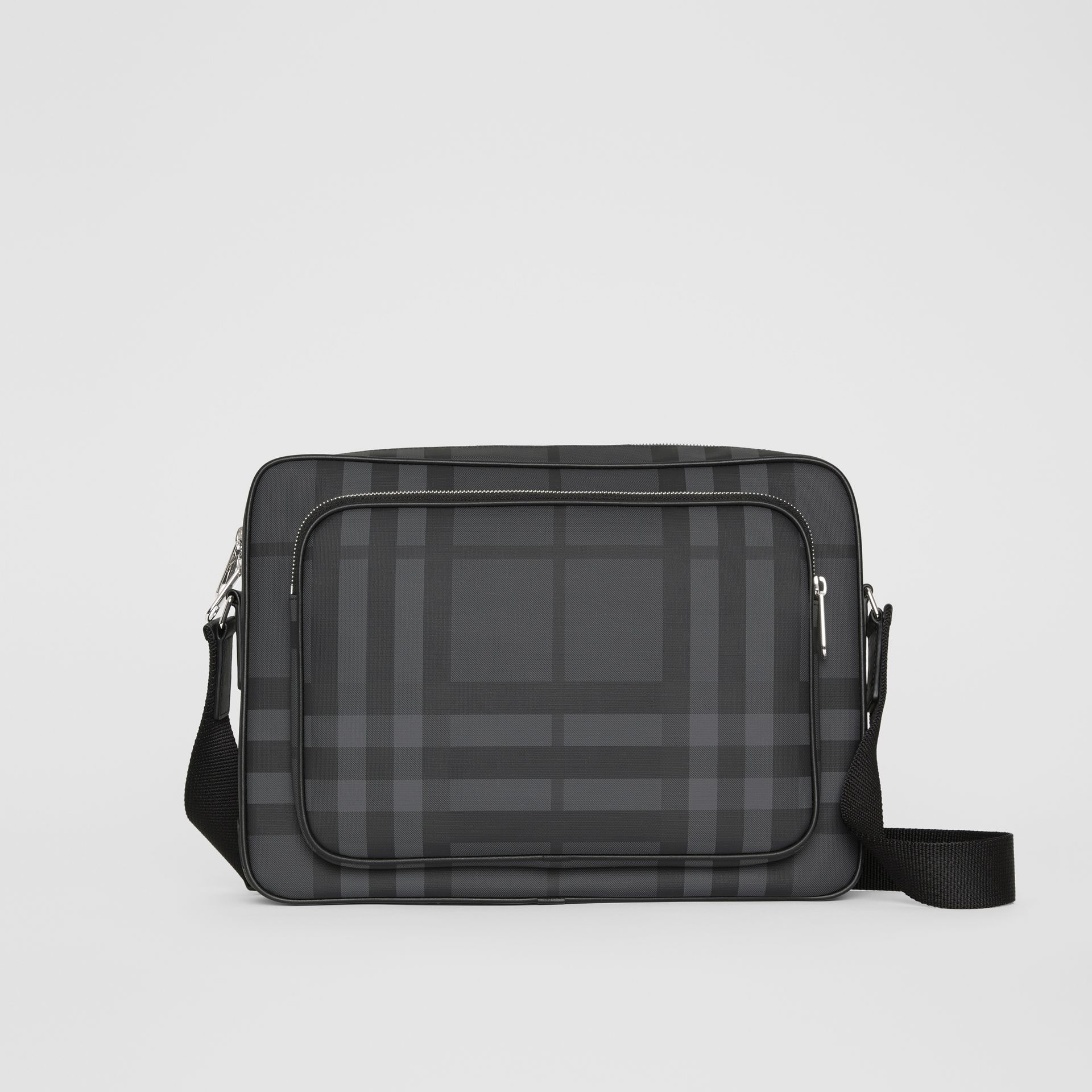 London Check Messenger Bag in Charcoal/black - Men | Burberry Singapore - gallery image 0