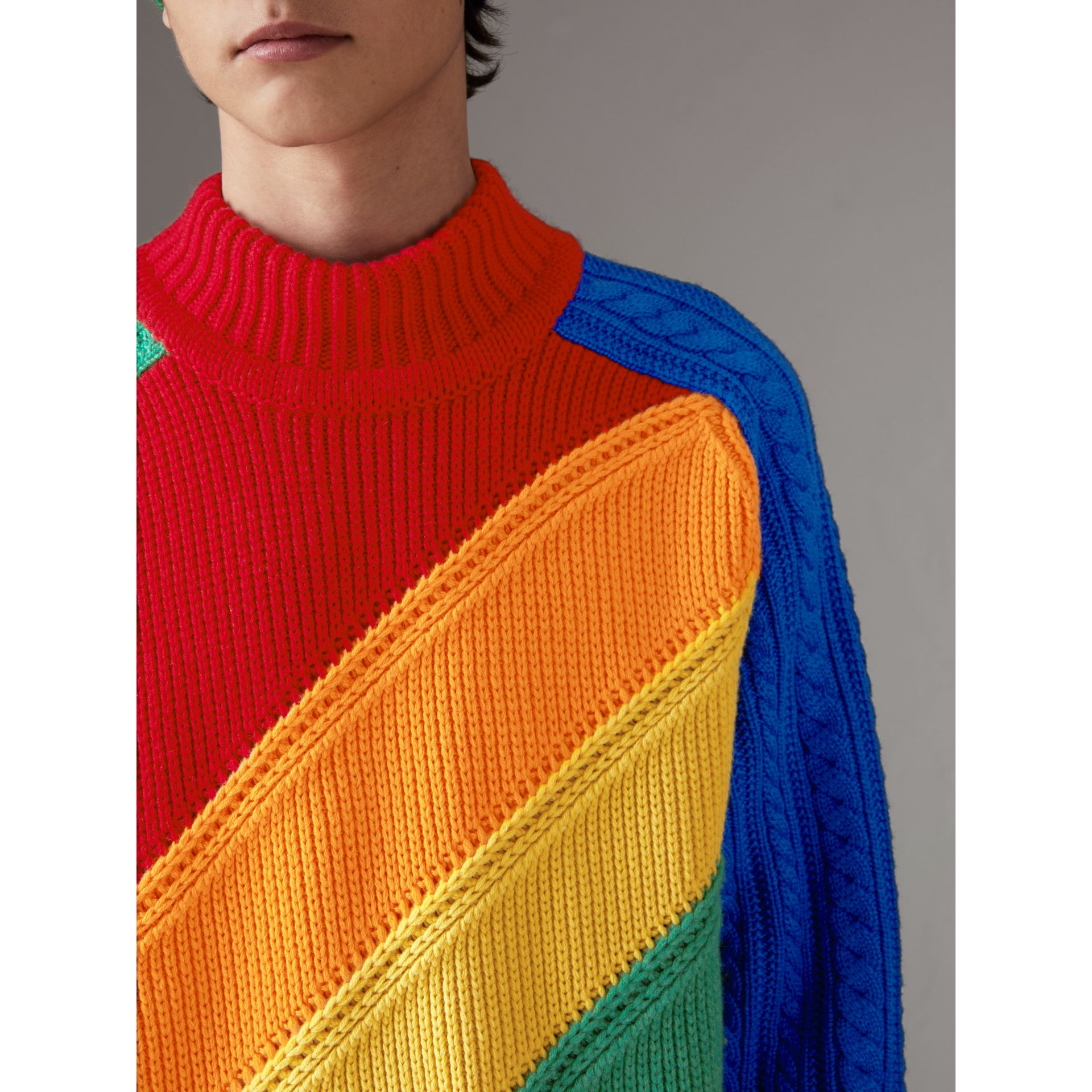 Rainbow Wool Cashmere Sweater | Burberry Singapore - gallery image 1