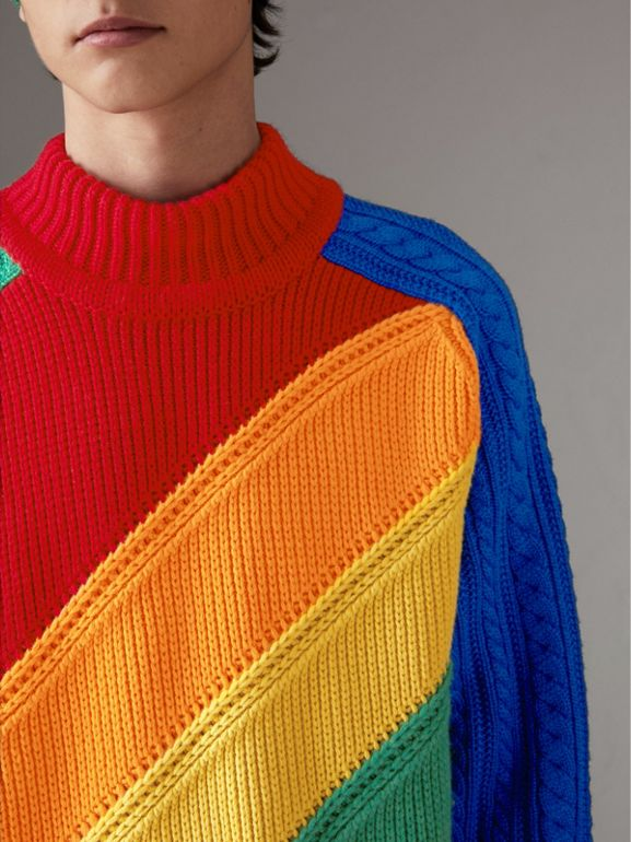 Rainbow Wool Cashmere Sweater | Burberry Singapore - cell image 1