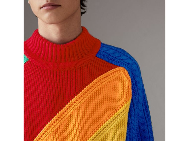 Rainbow Wool Cashmere Sweater | Burberry - cell image 1