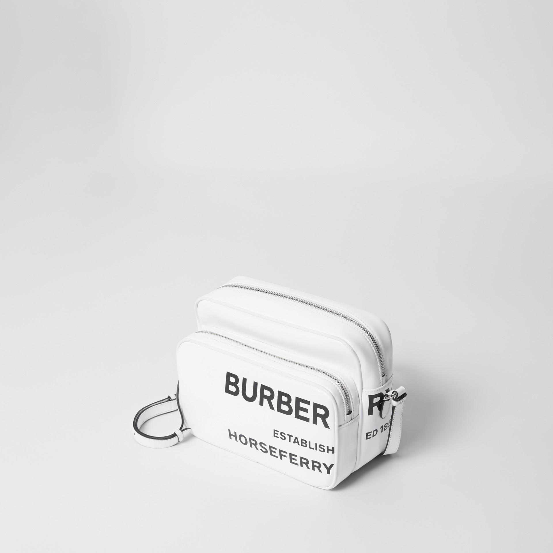 Medium Horseferry Print Camera Bag in White | Burberry - gallery image 4