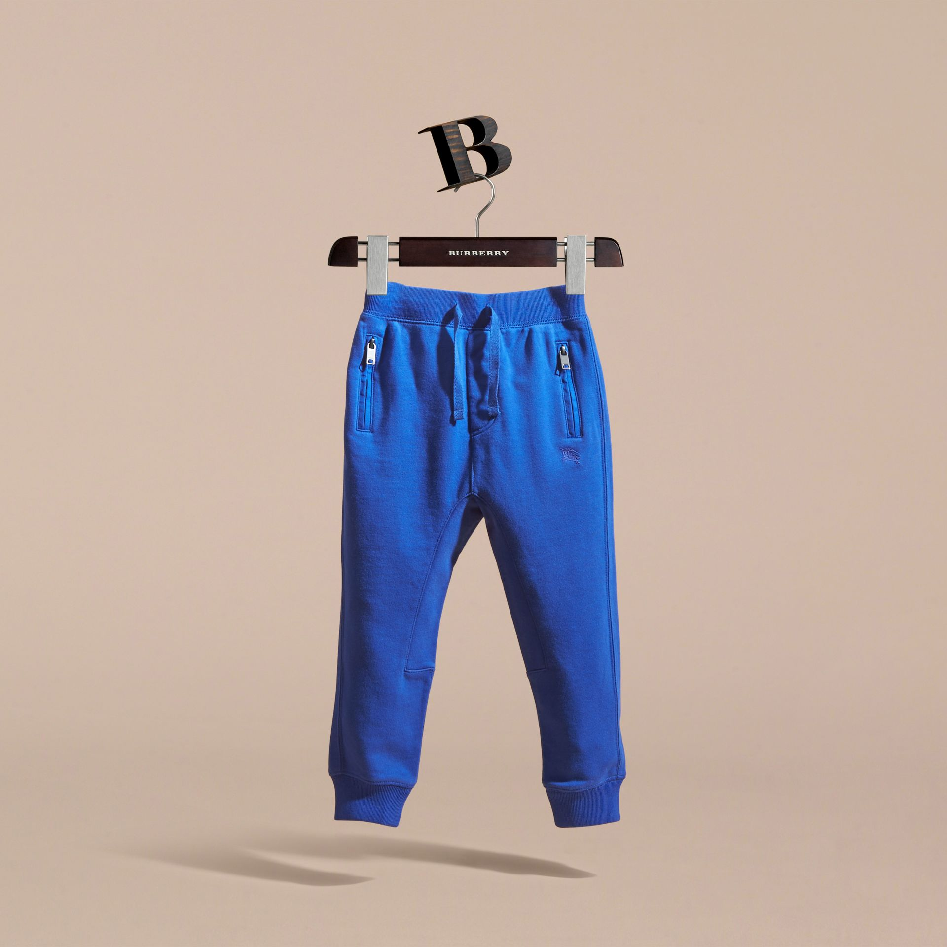 Drawcord Cotton Sweatpants Brilliant Blue - gallery image 3