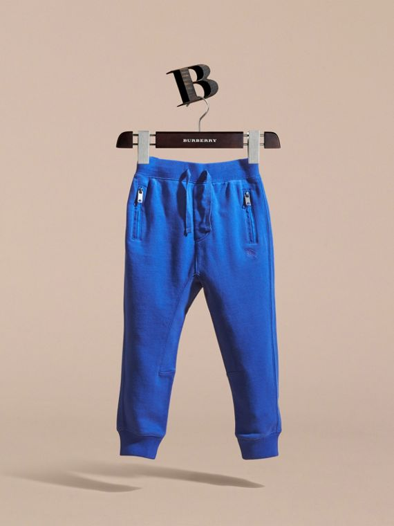 Drawcord Cotton Sweatpants Brilliant Blue - cell image 2