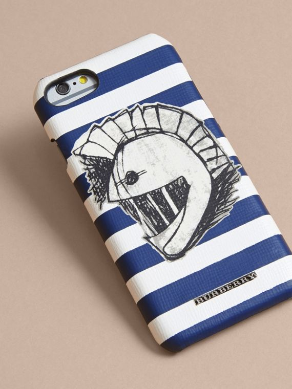 Pallas Helmet Motif London Leather iPhone 7 Case | Burberry - cell image 2