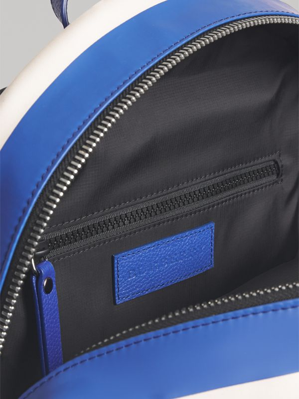 Adventure Print Cotton Canvas Backpack in Blue | Burberry - cell image 3