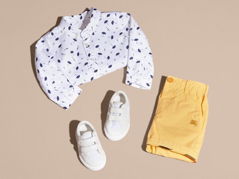 Button-down Collar Umbrella Motif Cotton Shirt - cell image 4