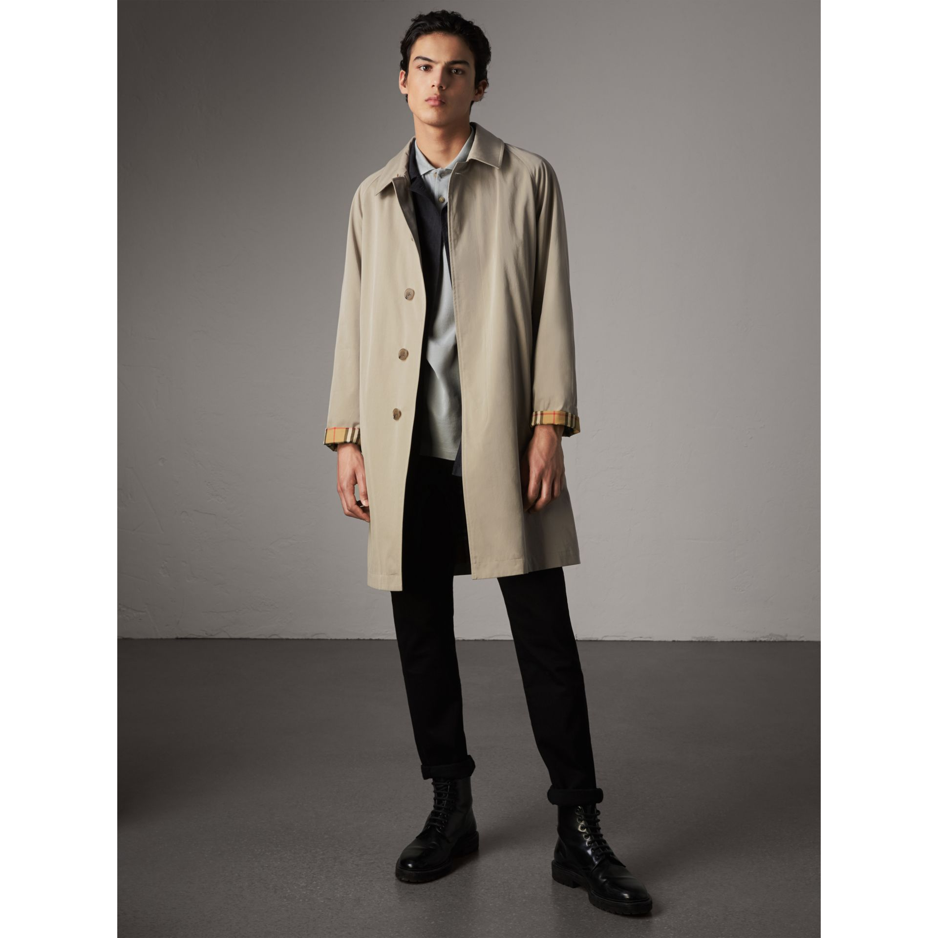 The Camden – Mid-length Car Coat in Sandstone - Men | Burberry - gallery image 1