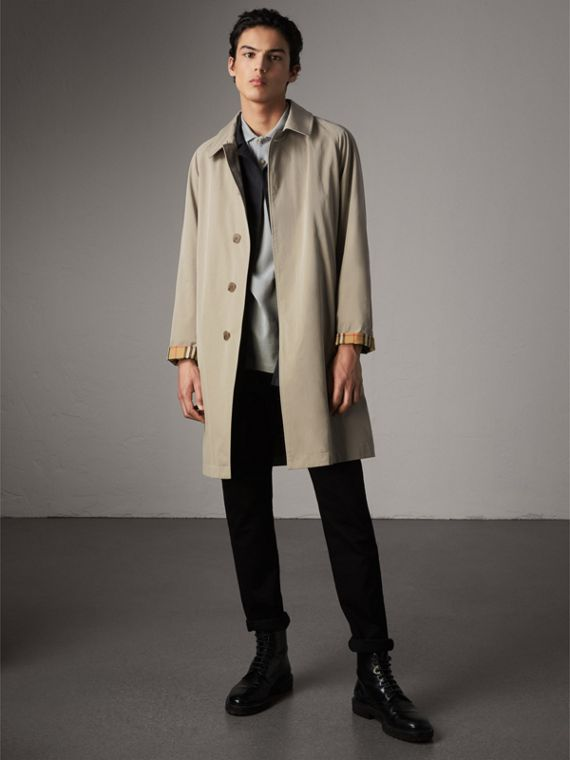 The Camden – Long Car Coat in Sandstone