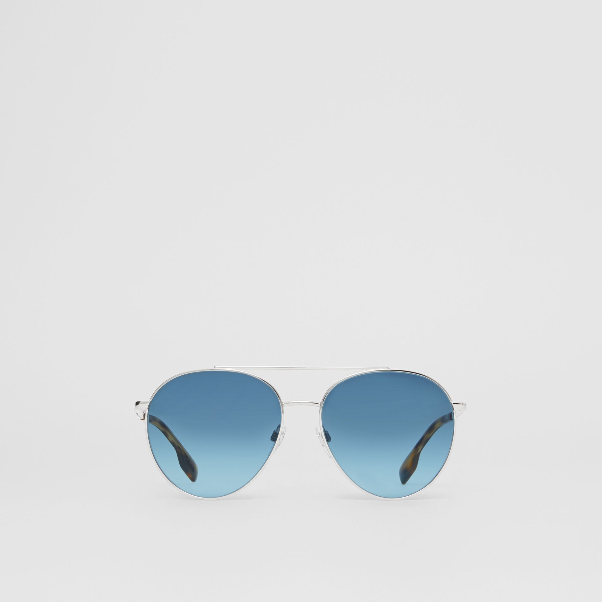 Pilot Sunglasses in Pale Blue - Women | Burberry - gallery image 0