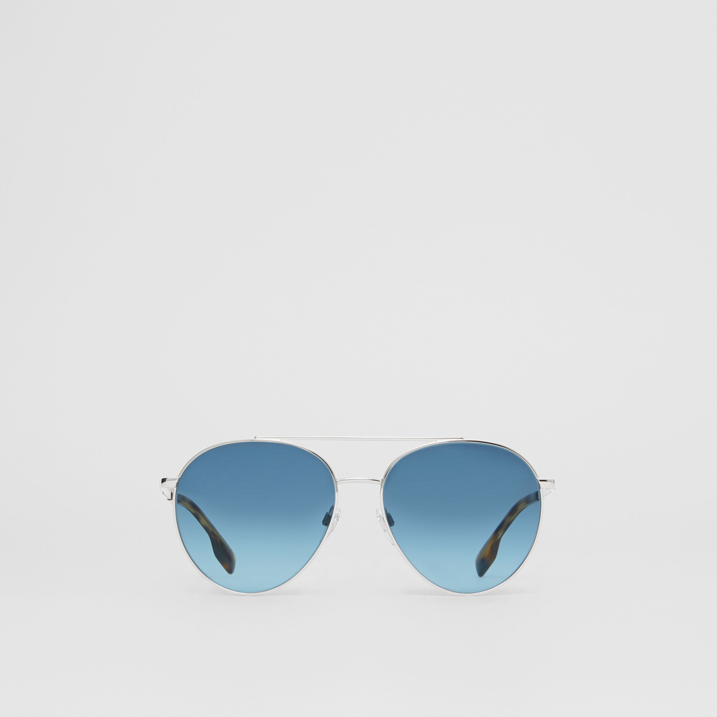 Pilot Sunglasses in Pale Blue - Women | Burberry - 1