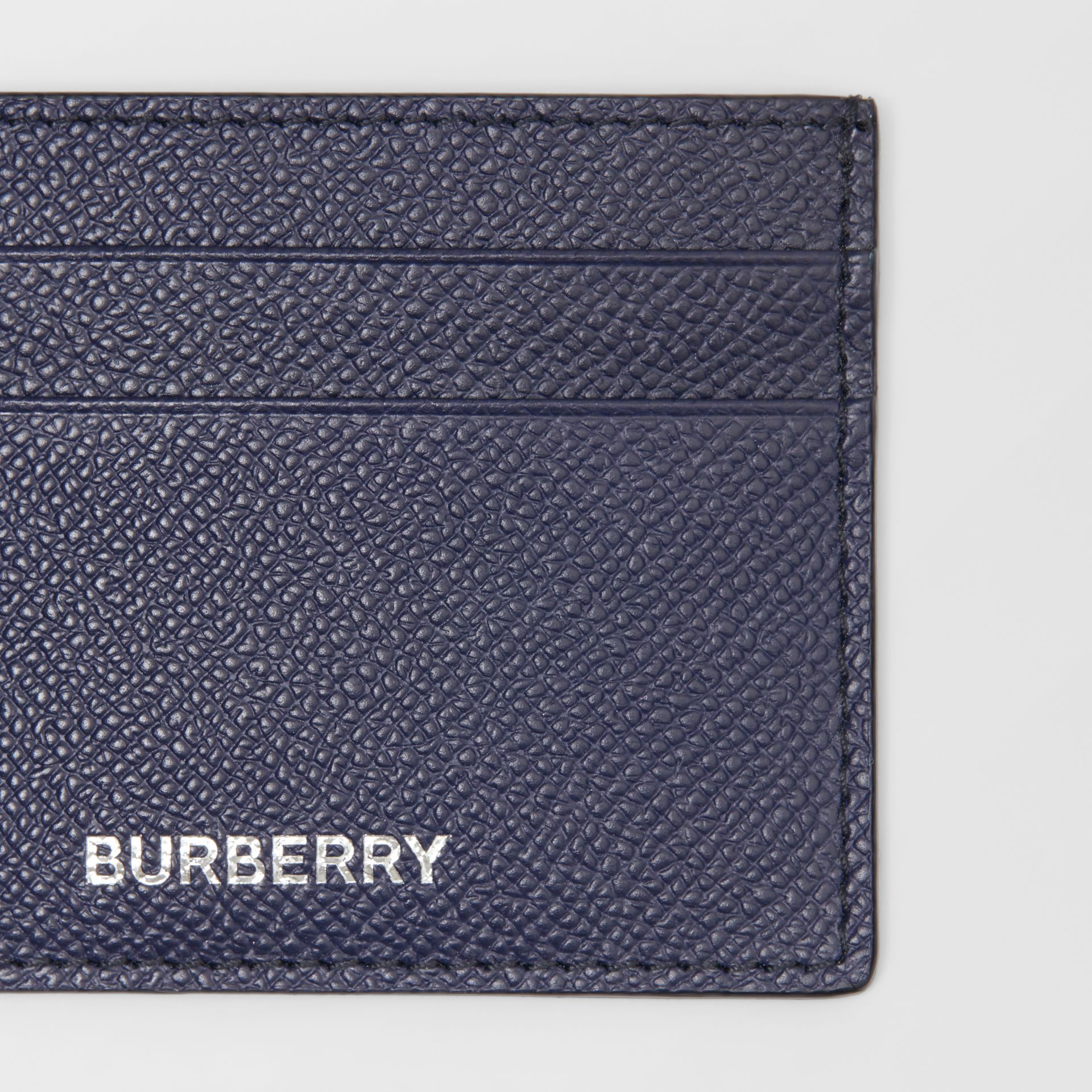 Grainy Leather Card Case in Regency Blue - Men | Burberry - gallery image 1