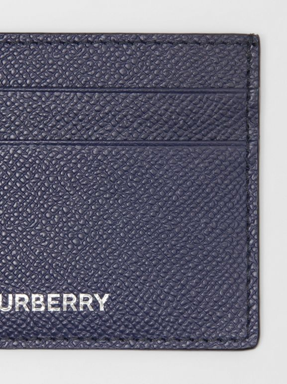 Grainy Leather Card Case in Regency Blue - Men | Burberry - cell image 1
