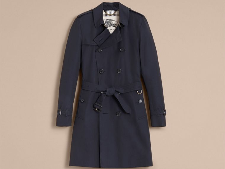 Navy The Kensington – Long Heritage Trench Coat Navy - cell image 4