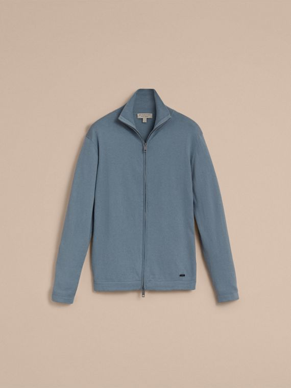 Cotton Cashmere Zip-front Top - Men | Burberry - cell image 3