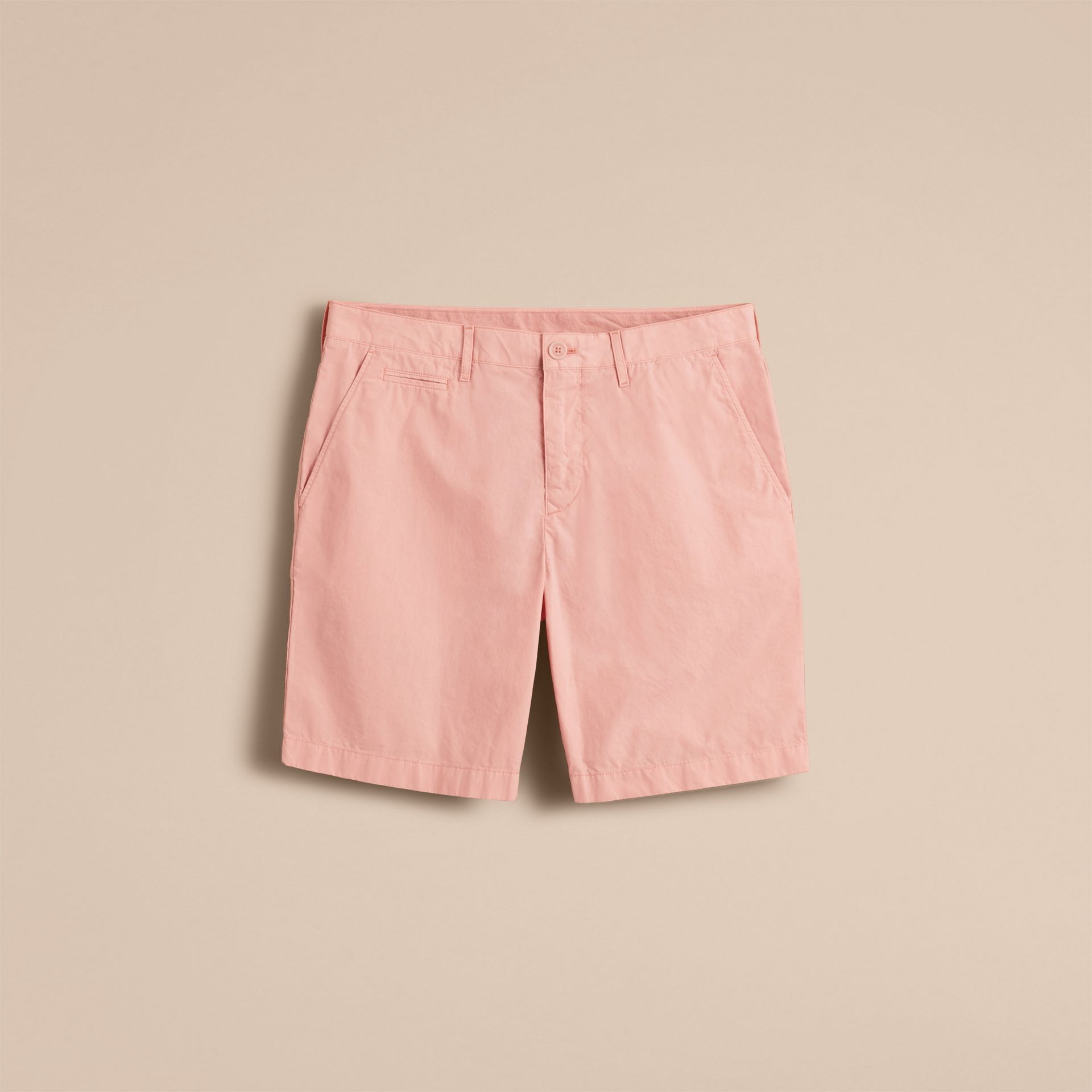 Cotton Poplin Chino Shorts Apricot Pink - gallery image 4