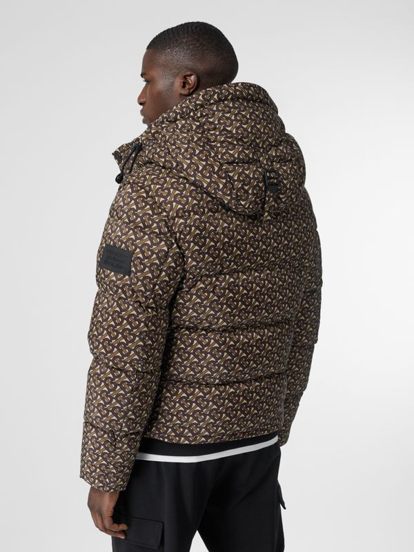 Detachable Sleeve Monogram Print Puffer Jacket in Bridle Brown - Men | Burberry Canada - cell image 2