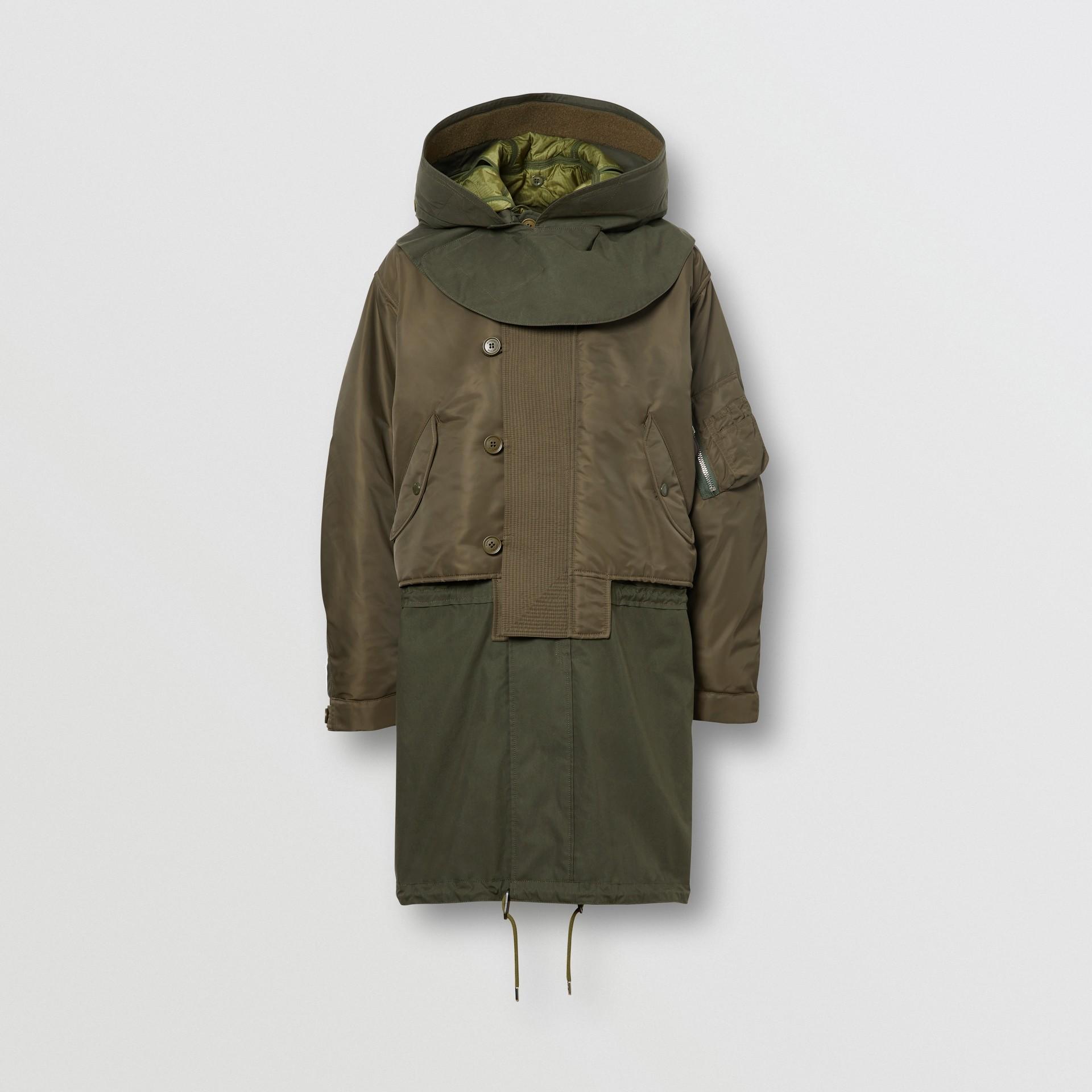 Parka à capuche en nylon et gilet intérieur amovible (Olive) - Homme | Burberry Canada - photo de la galerie 3