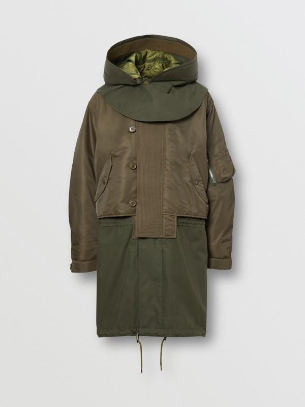 Parka à capuche en nylon et gilet intérieur amovible (Olive) - Homme | Burberry Canada - cell image 3