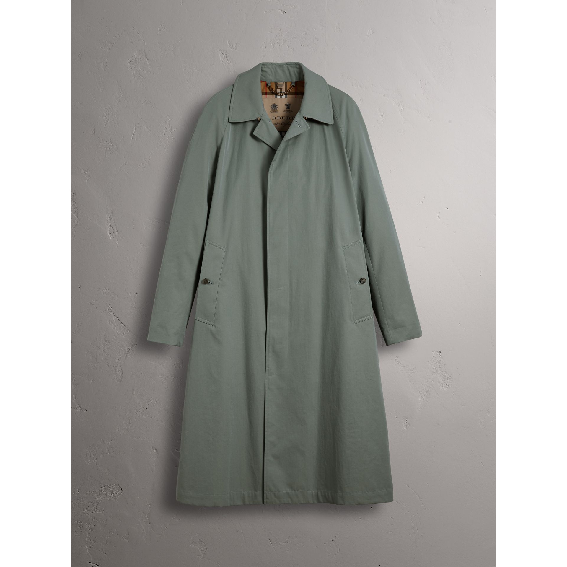 Car Coat The Brighton (Bleu Cendré) - Homme | Burberry - photo de la galerie 3