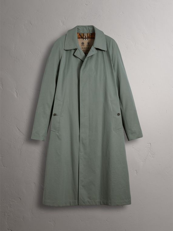 The Brighton – Extra-long Car Coat – Online Exclusive in Dusty Blue - Men | Burberry - cell image 3
