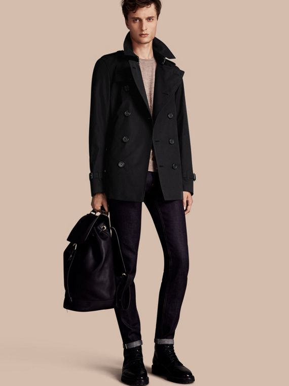 The Kensington - Trench coat Heritage curto Preto