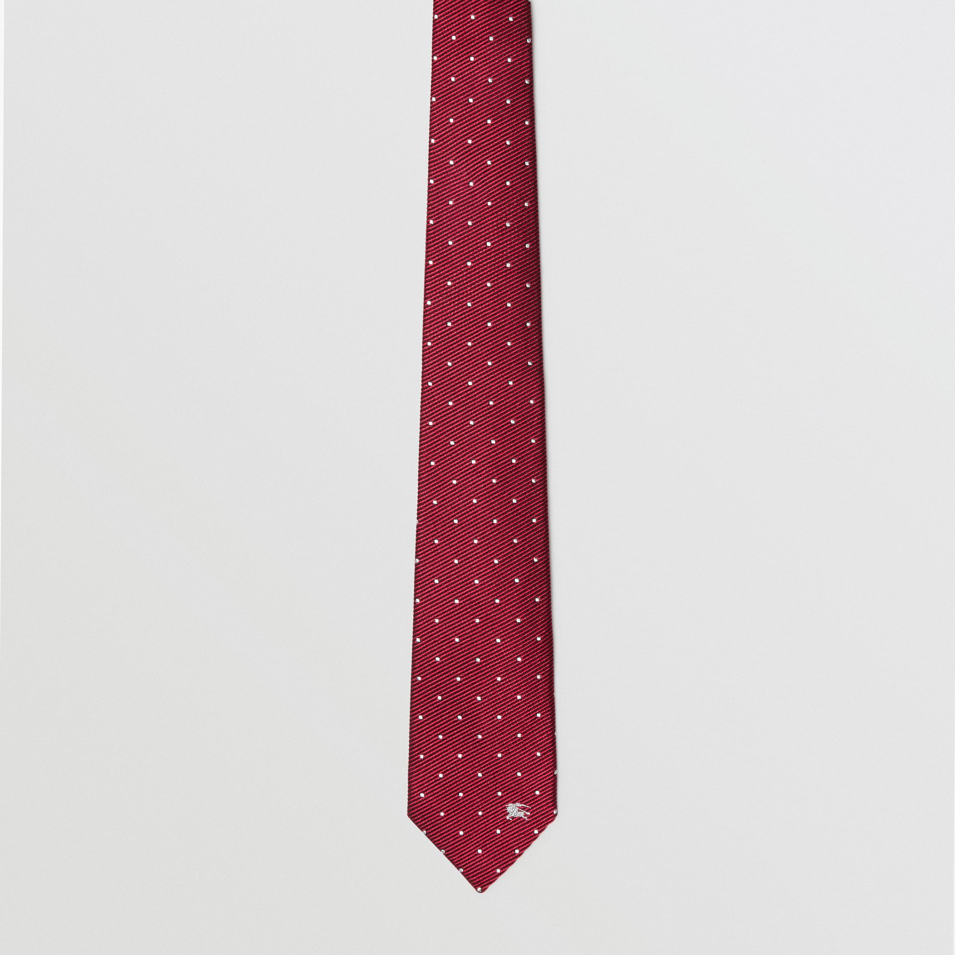 Modern Cut Pin Dot Silk Tie in Crimson Pink - Men | Burberry - gallery image 4