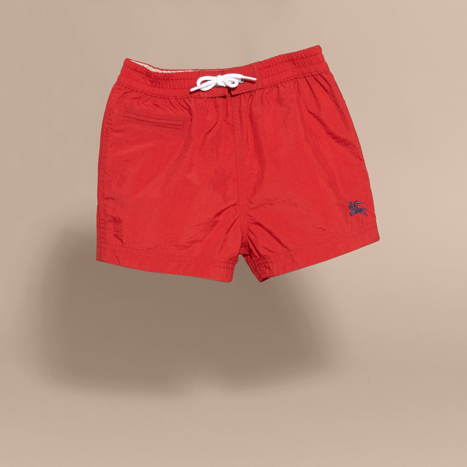 Quick-dry Swim Shorts in Military Red | Burberry - gallery image 3