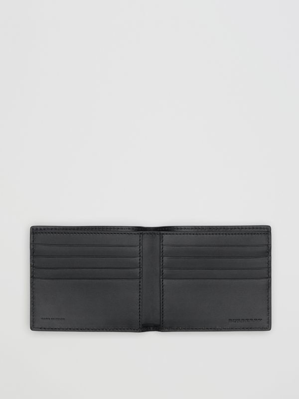 Embossed Crest Leather International Bifold Wallet in Regency Blue - Men | Burberry Singapore - cell image 2