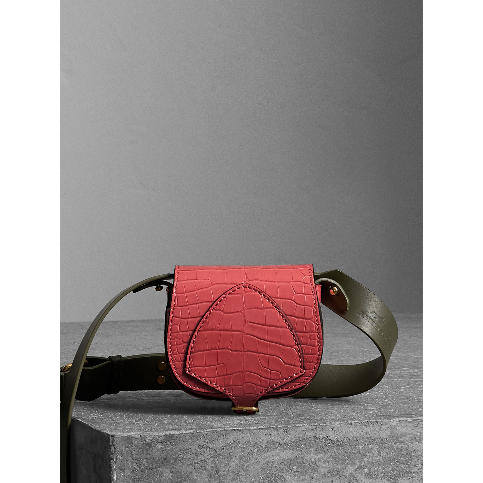 The Pocket Satchel in Alligator in Pink Azalea - Women | Burberry - gallery image 1