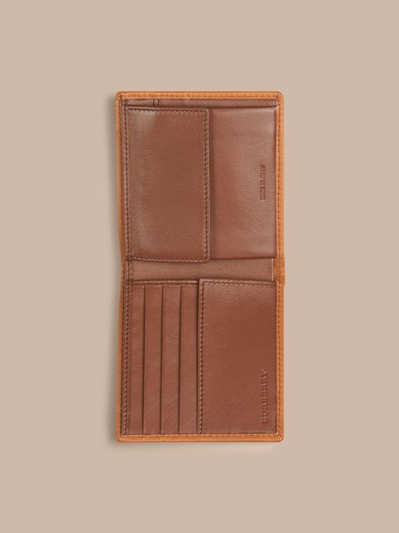 Horseferry Check Folding Coin Wallet Tan - cell image 3