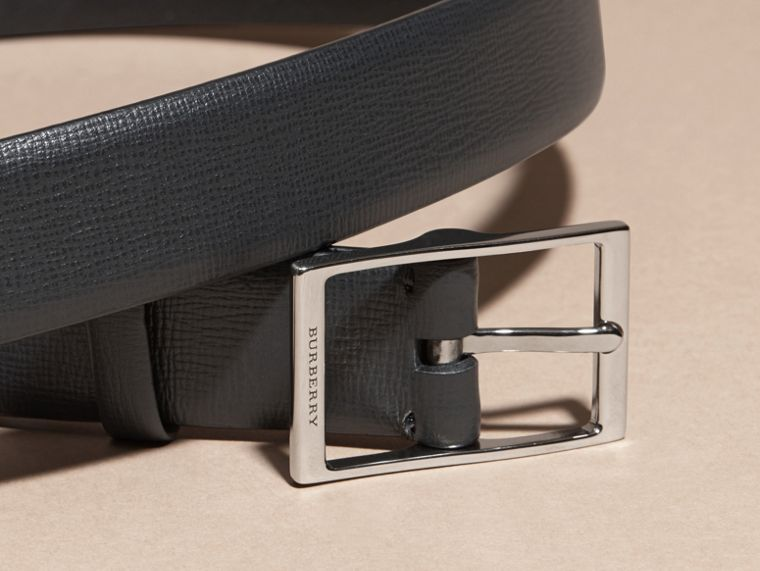 Black London Leather Belt Black - cell image 1