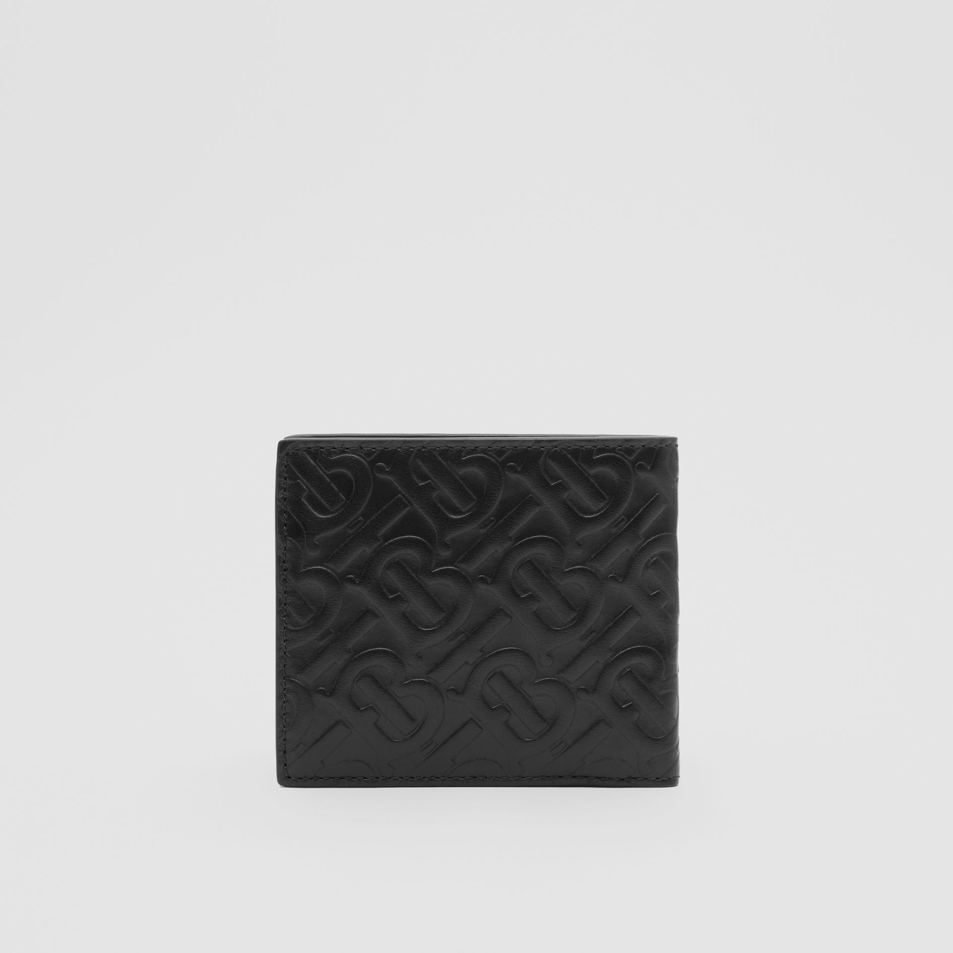 Monogram Leather International Bifold Coin Wallet in Black - Men | Burberry - gallery image 4