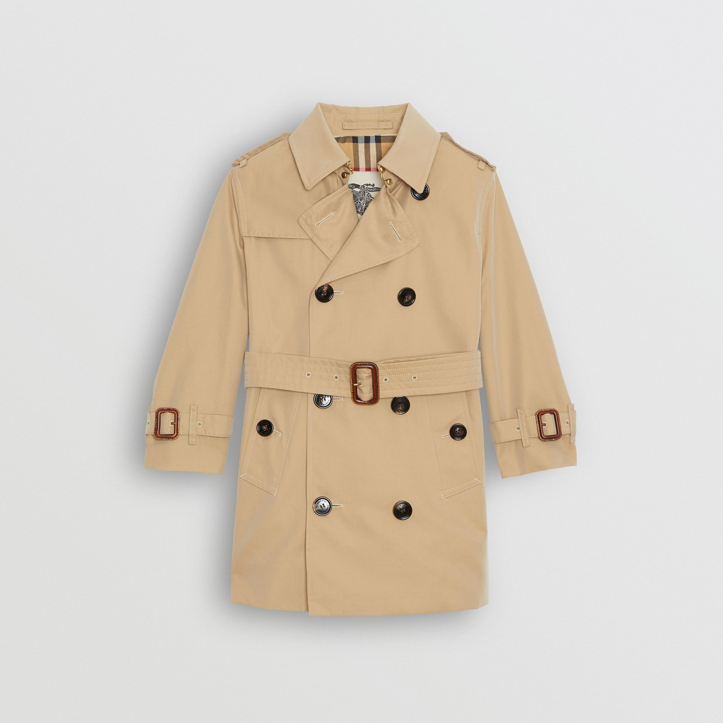 Cotton Gabardine Trench Coat in Honey | Burberry - 1