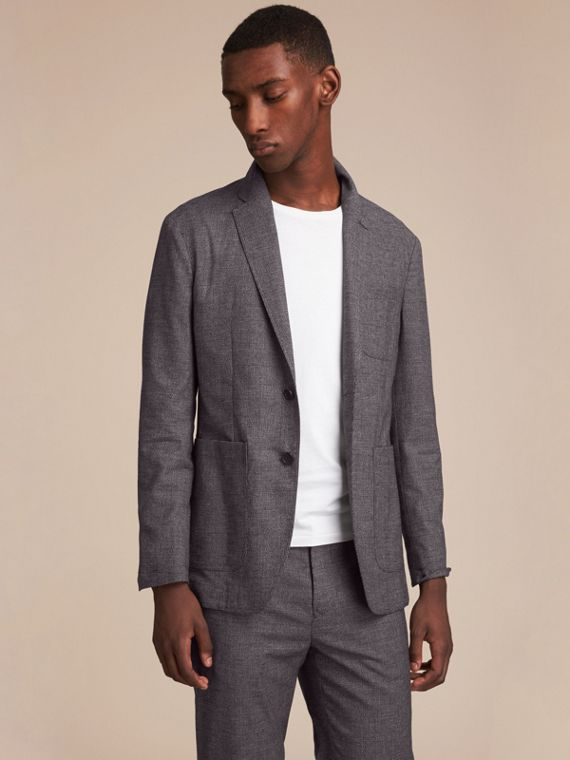 Prince of Wales Cotton Wool Blend Blazer