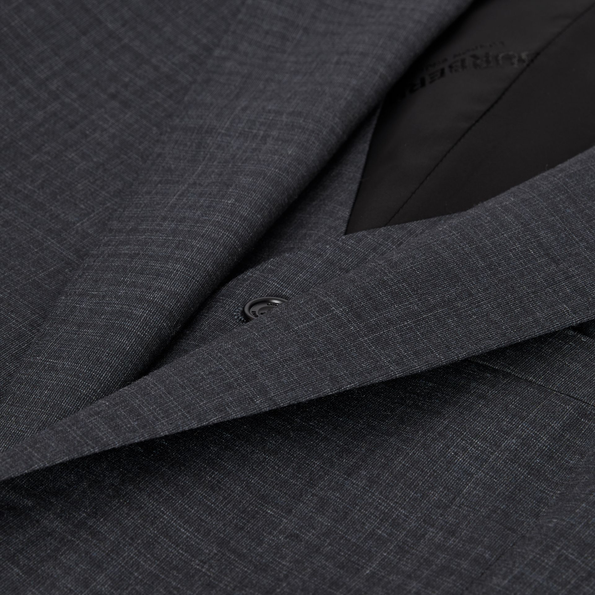 Classic Fit Check Wool Silk Three-piece Suit in Navy - Men | Burberry United Kingdom - gallery image 9