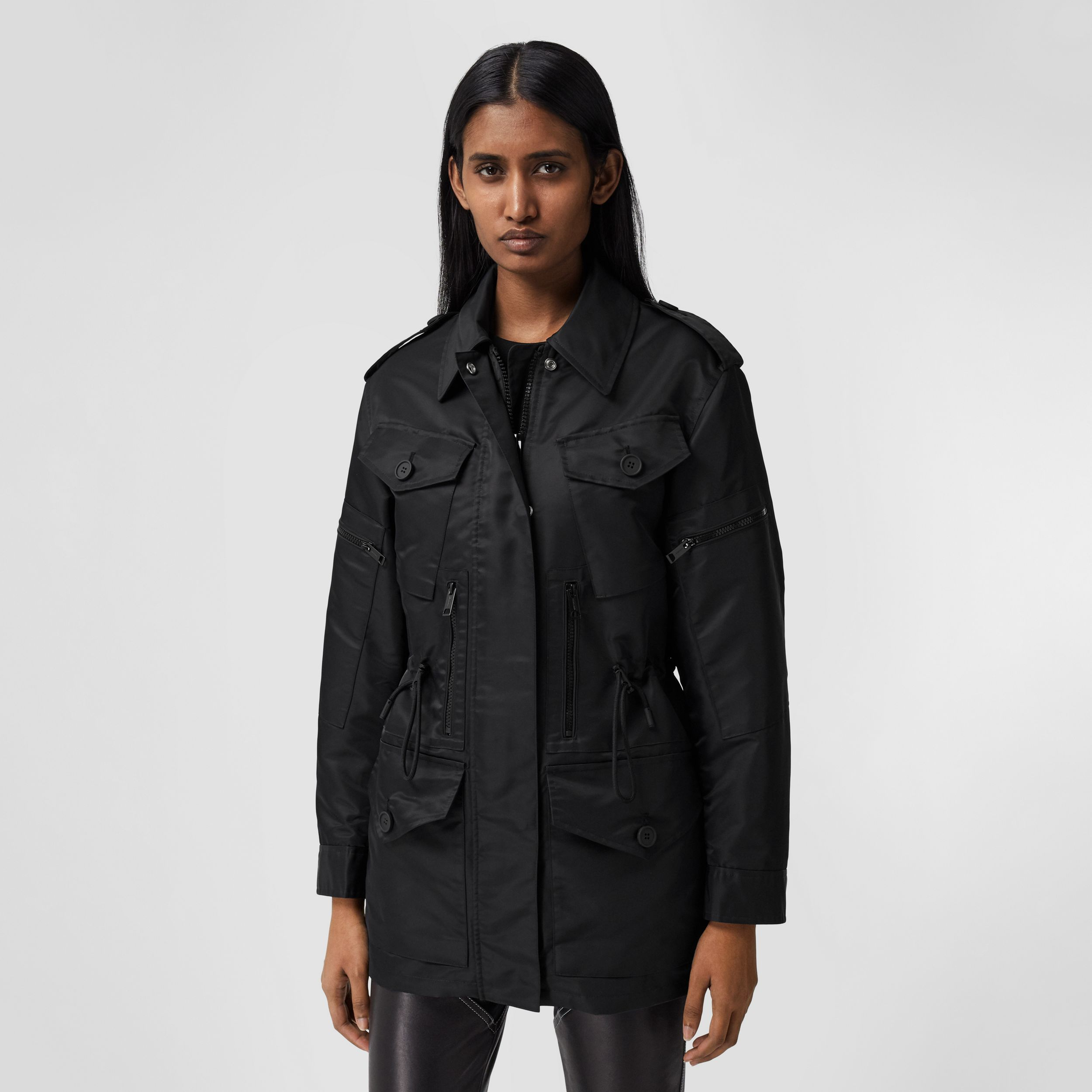 Horseferry Print Recycled Nylon Field Jacket in Black - Women | Burberry Hong Kong S.A.R. - 3