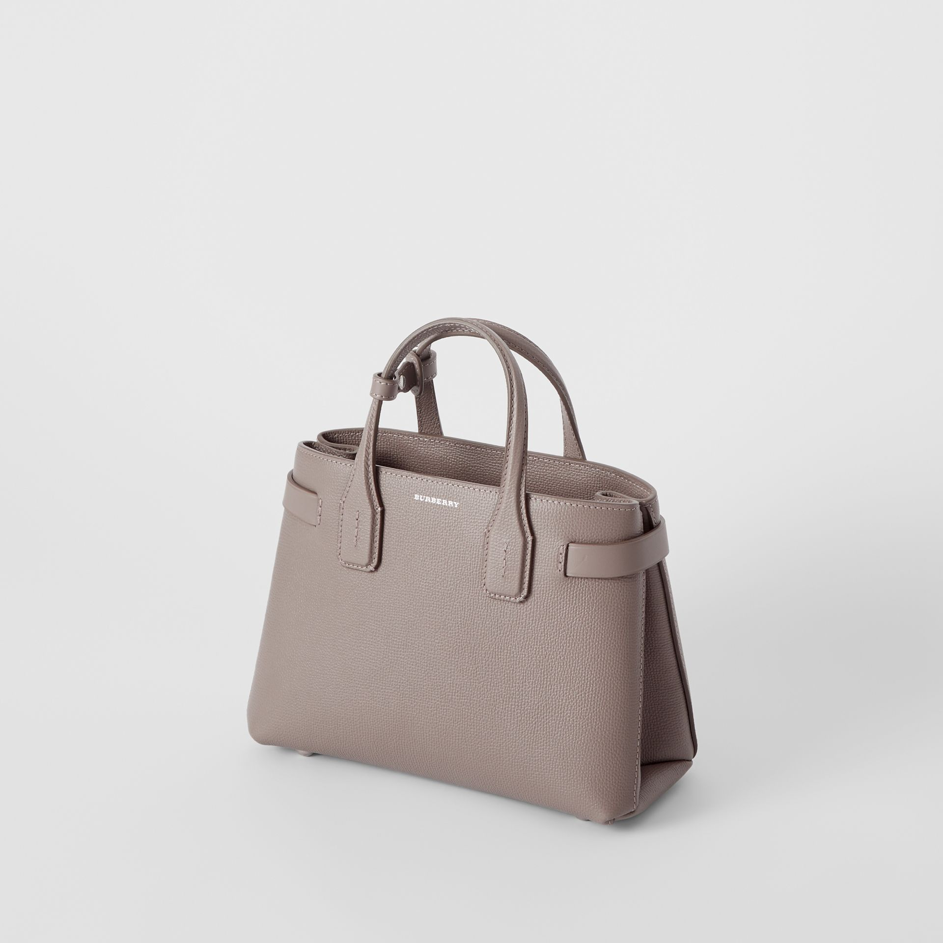 The Small Banner in Leather and Vintage Check in Taupe Brown - Women | Burberry - gallery image 4