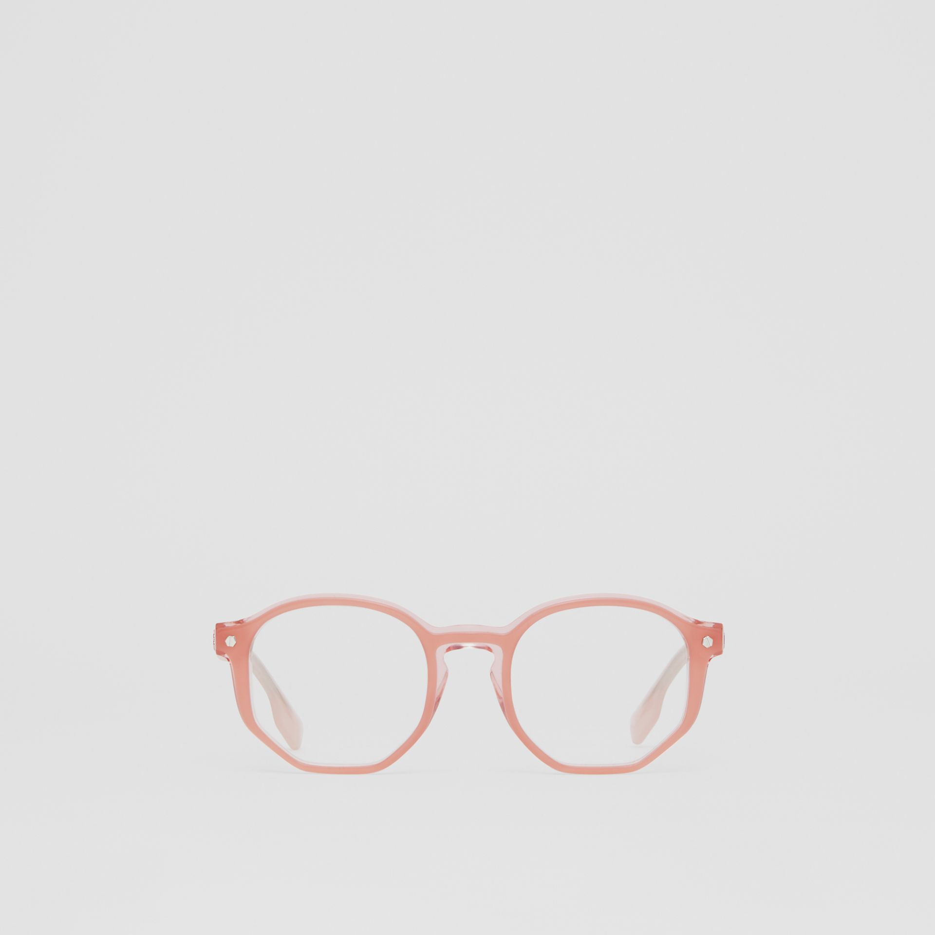Geometric Optical Frames in Pink - Women | Burberry United Kingdom - gallery image 0