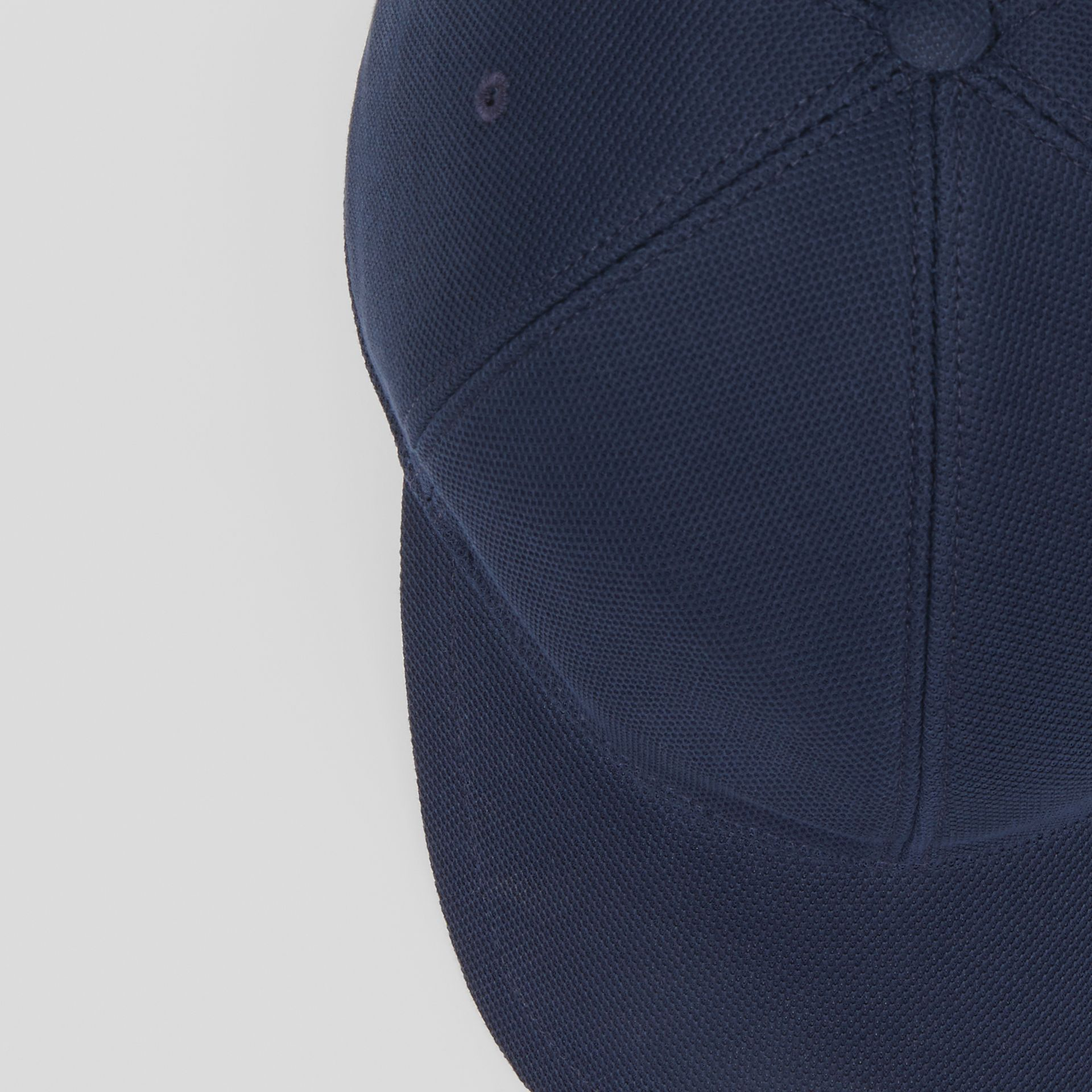 Monogram Motif Baseball Cap in Navy | Burberry - gallery image 1
