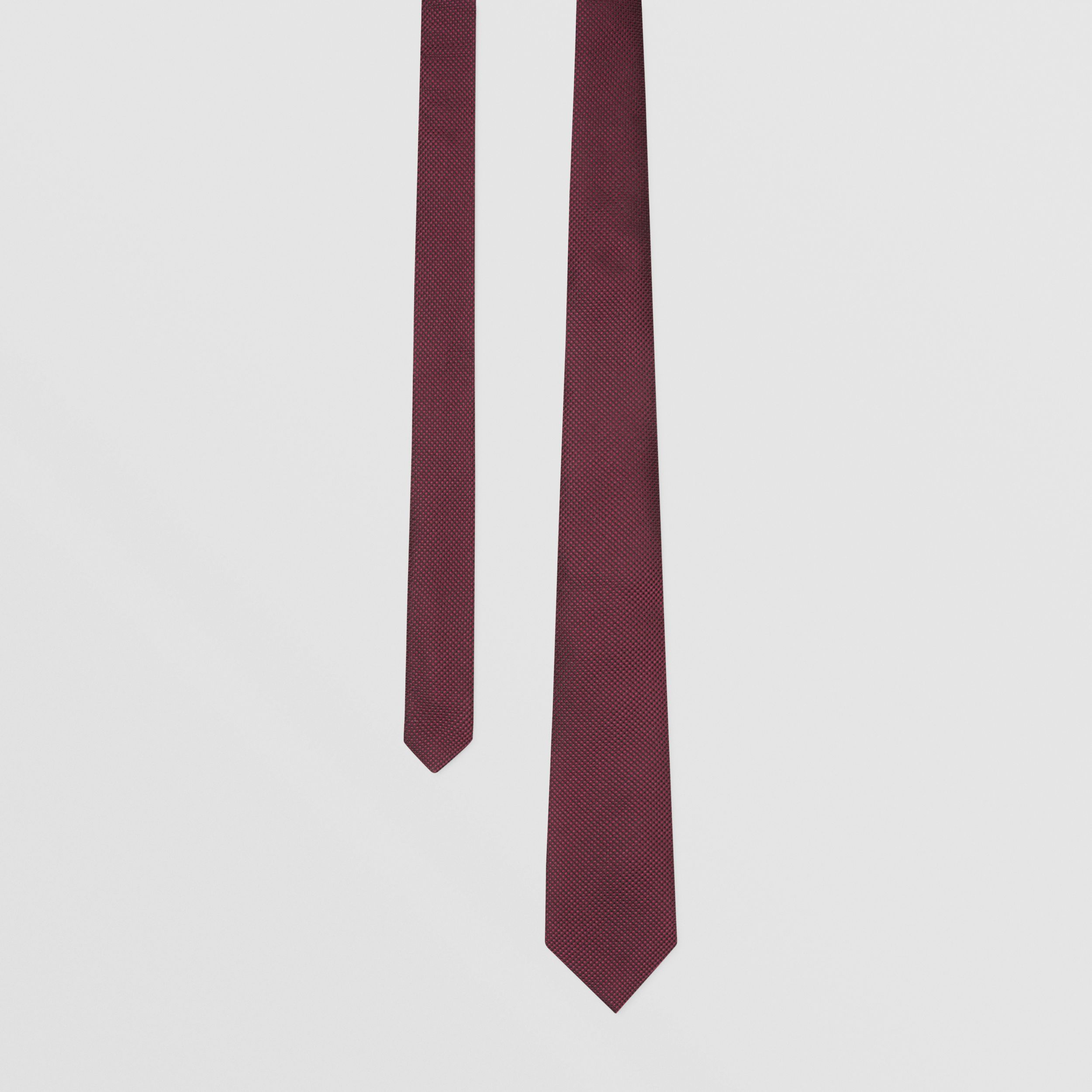 Classic Cut Woven Silk Tie in Dark Plum - Men | Burberry - 1