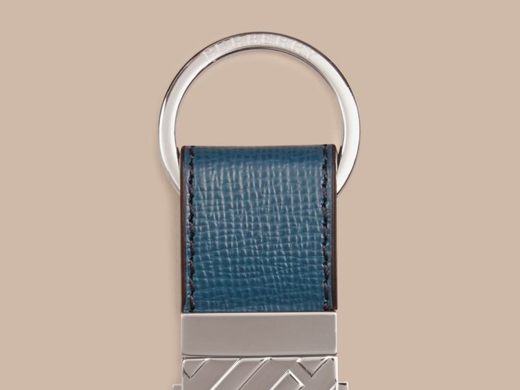 Mineral blue London Leather Valet Key Ring Mineral Blue - cell image 1
