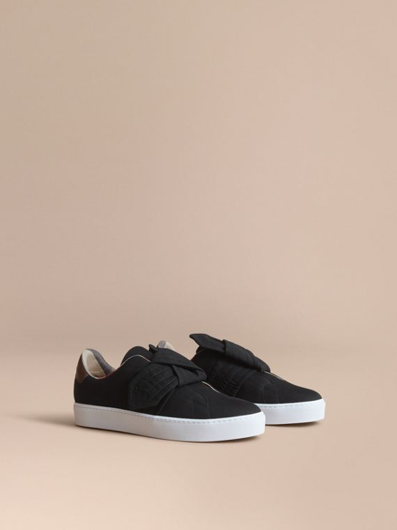 Trench Knot Cotton Gabardine Trainers