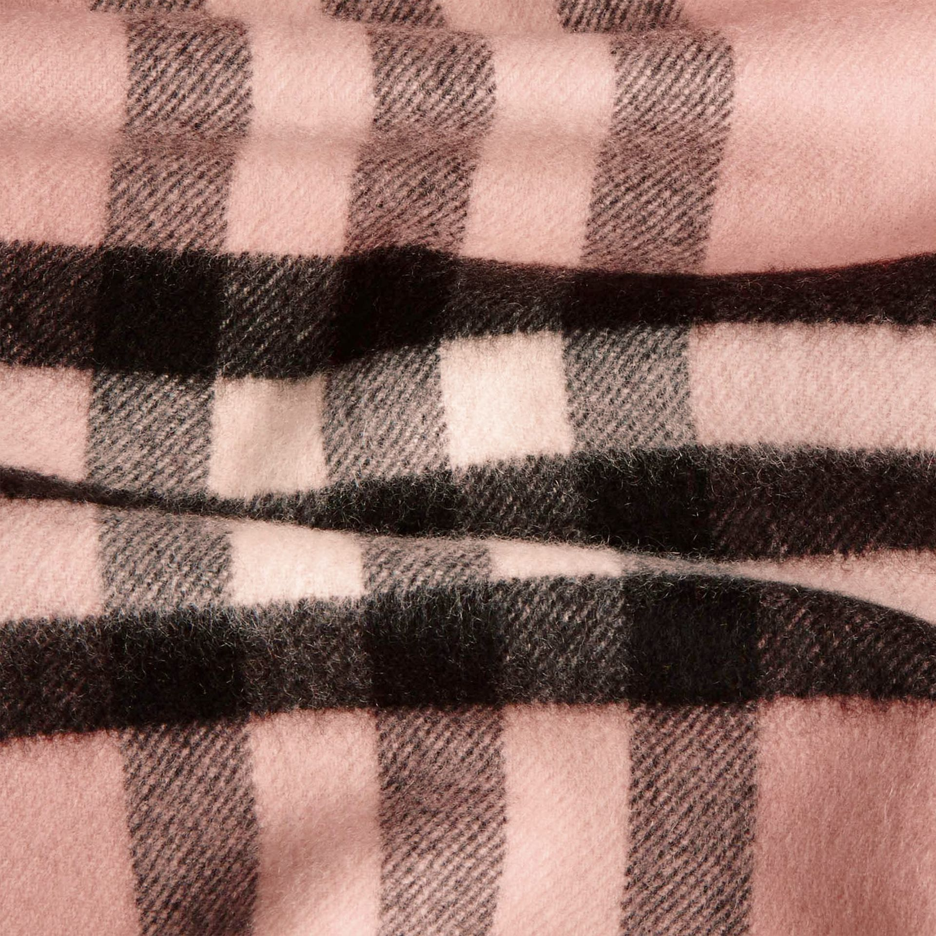 The Classic Cashmere Scarf in Check Rose - gallery image 5