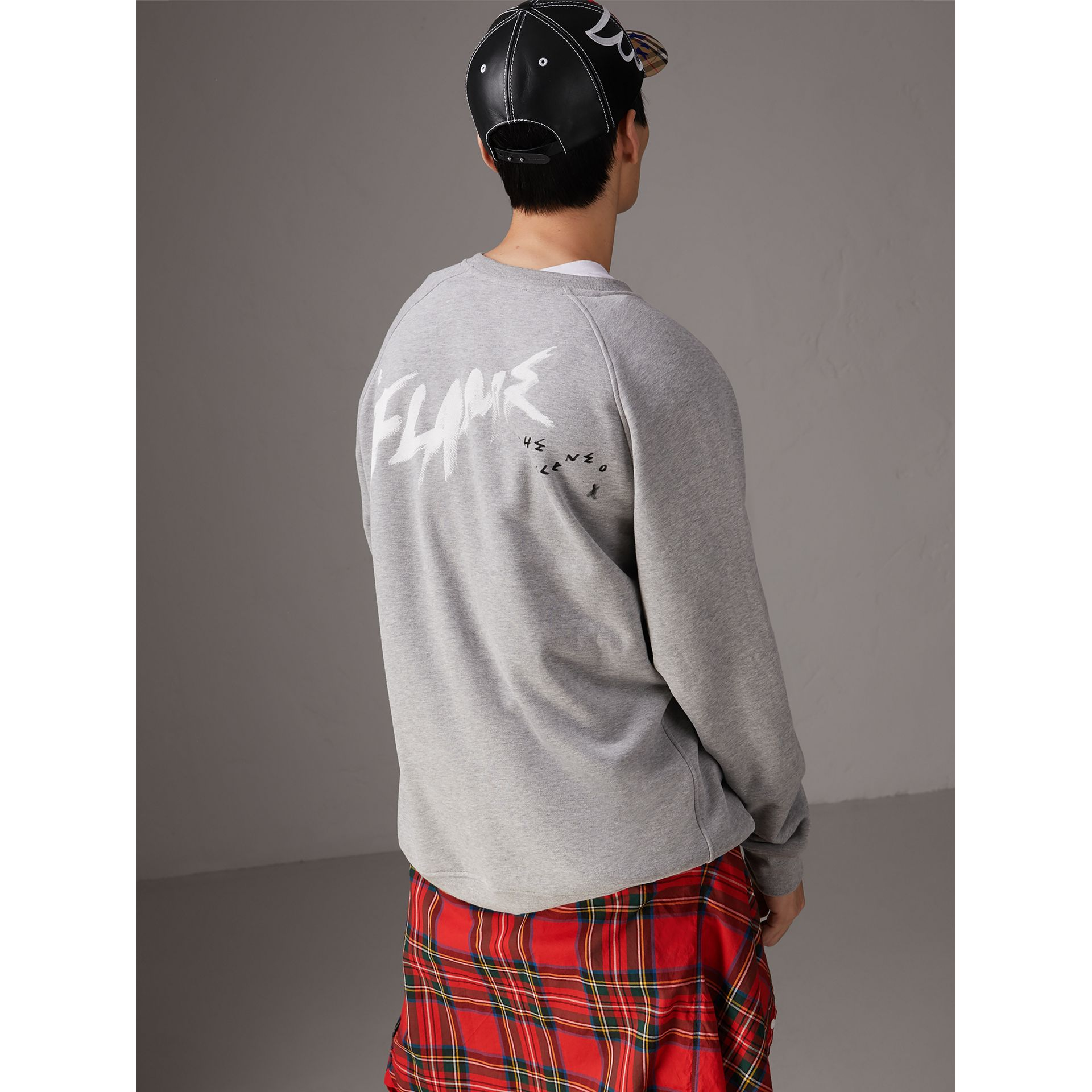 Burberry x Kris Wu Graphic Motif Sweatshirt in Pale Grey Melange - Men | Burberry United States - gallery image 2