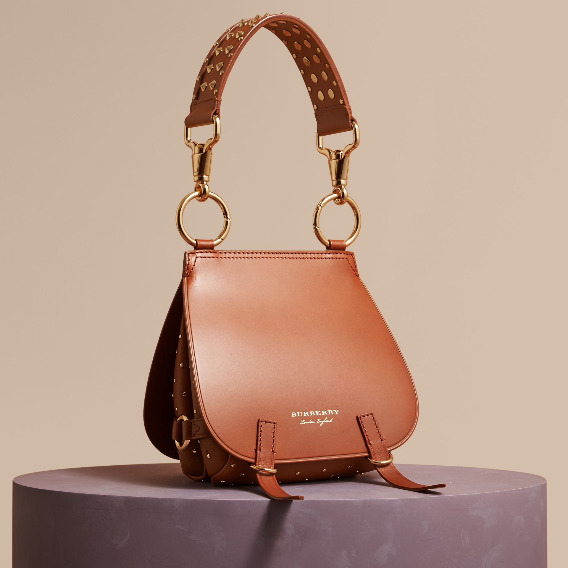 Tan The Bridle Bag in Leather and Rivets - gallery image 1