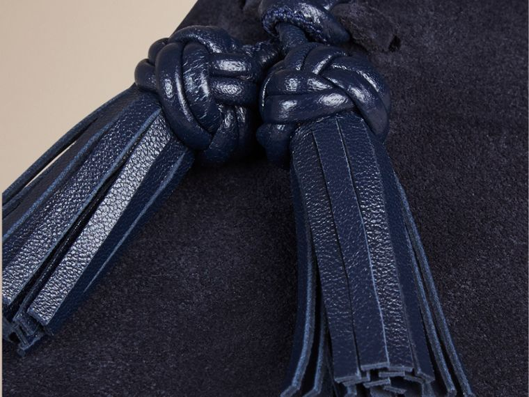 Midnight blue/navy Whole-cut Suede Tassel Loafers Midnight Blue/navy - cell image 1